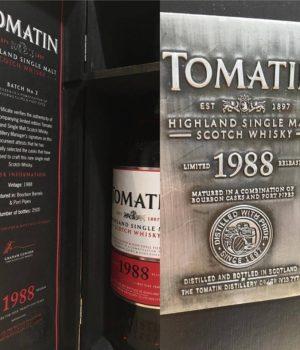 whisky 30 jaar 1988 tomatin