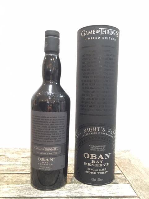 games of thrones oban whisky
